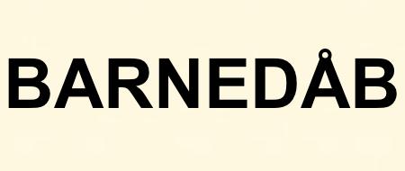 BARNEDÅB
