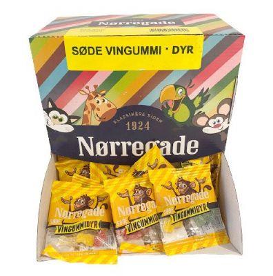 Nørregade Søde Vingummi Dyr Mini  - 100 Stk.