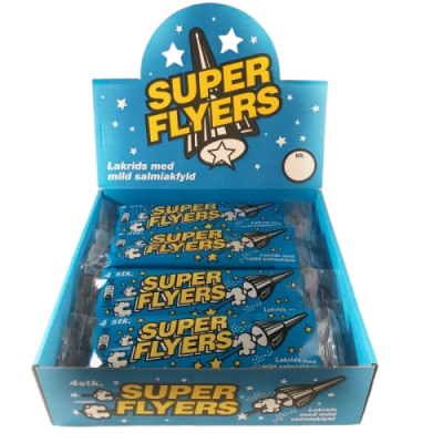 Super Flyers Lakrids Mild – 25 stk.