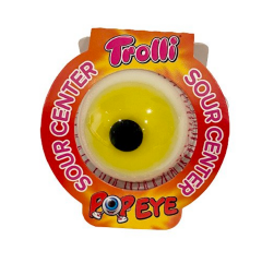 Trolli Øje Gul - 1 stk.