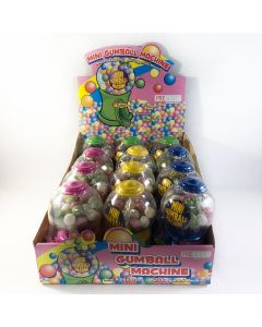 Mini Gumball Machine - 12 stk.